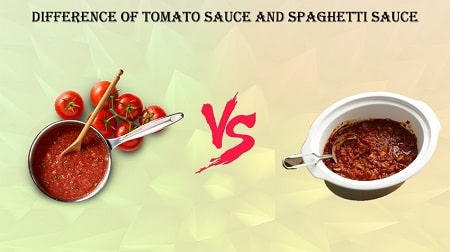 Difference Of Tomato Sauce And Spaghetti Sauce