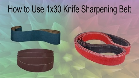 how to use knife making belt